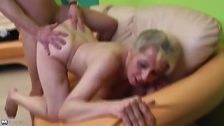Sexy hairy mature mothers fuck young sons