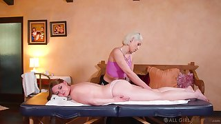 Sensual dolls ration their lust during a massage tryout