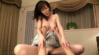 Japanese milf toyed in advance getting perishable pussy fucked