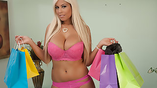 Bridgette B. buys lingerie to get fucked in at the end of one's tether the brush Sugar Daddy